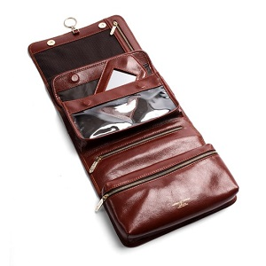 Leather Men's Hanging wash bag
