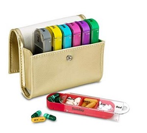 weekly travel pill organizer
