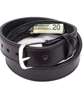 Hidden $ leather belt