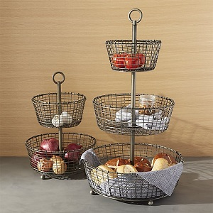 C&B iron fruit baskets