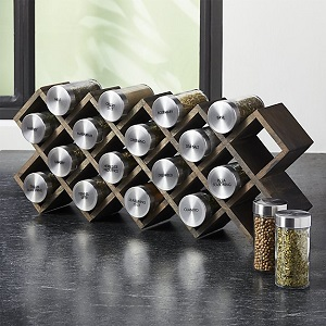 C & B grey wash spice rack