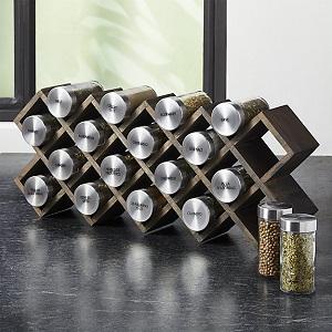 C & B grey wash spice rack