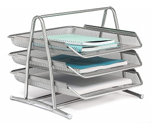 mesh 3-tiered desk tray