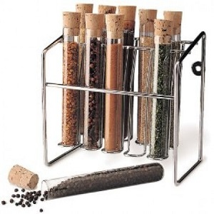 glass tube spice rack