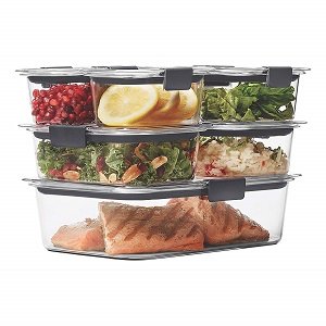 rubbermaid brilliance container set