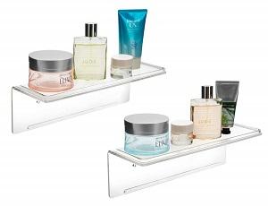 Adhesive Acrylic Floating Shelves