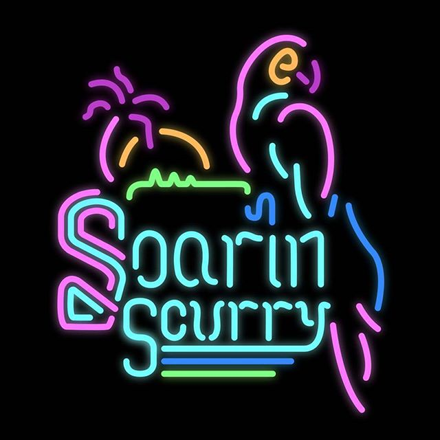 Here it is...Soarin' Scurry's new logo!! Our 🦅👀 viewers might find our neon inspirations familiar...take a guess on what they are in the comments below! ⬇ #soarinscurry #dolphindungeon #dolphindungeongames #magfest2019 #magfest #supermagfest #indiegames #indiesatmagfest #magfestindiearcade #indiegamedevs #neon #neonsign