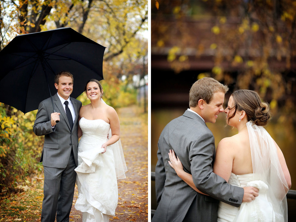03-Minneapolis-Minnesota-Wedding-Photography-Downtown-Rain-Nicollet-Island-Pavilion-Fall-Colors-Fall-Leaves-Autumn-First-Look-Kalley-and-Ben.jpg