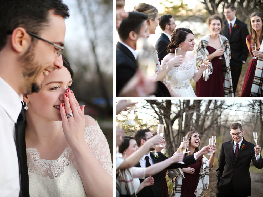 12-Minneapolis-Minnesota-Wedding-Photography-by-Vick-Photography-Autumn-Lake-Sunset-Toasting-Sarah-and-Patrick.jpg