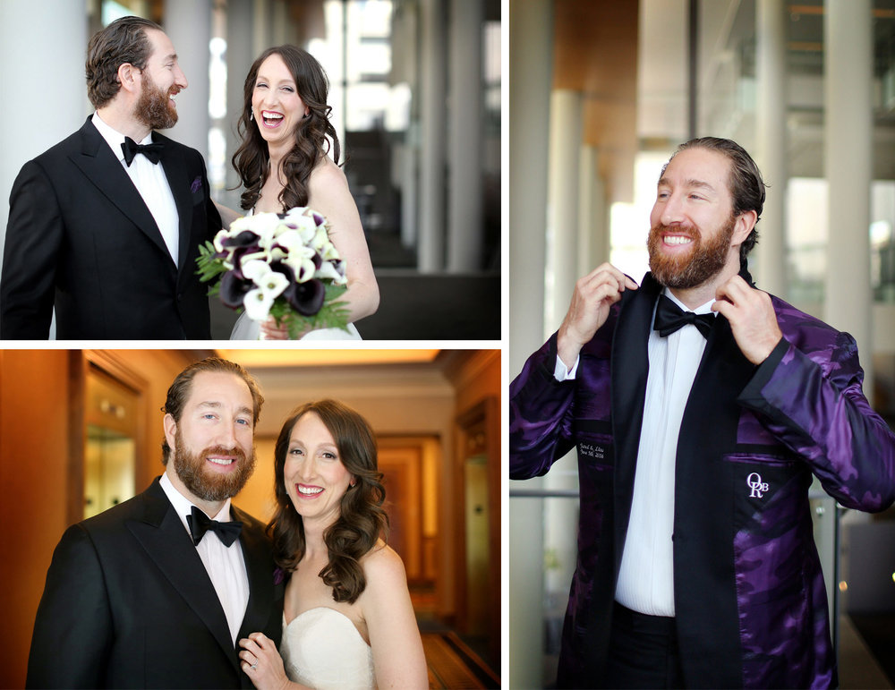 07-Minneapolis-Minnesota-Wedding-Photography-by-Vick-Photography-Hilton-Downtown-Reversable-Tux-Suite-Liner-Purple-Tux-Lisa-and-Jared.jpg