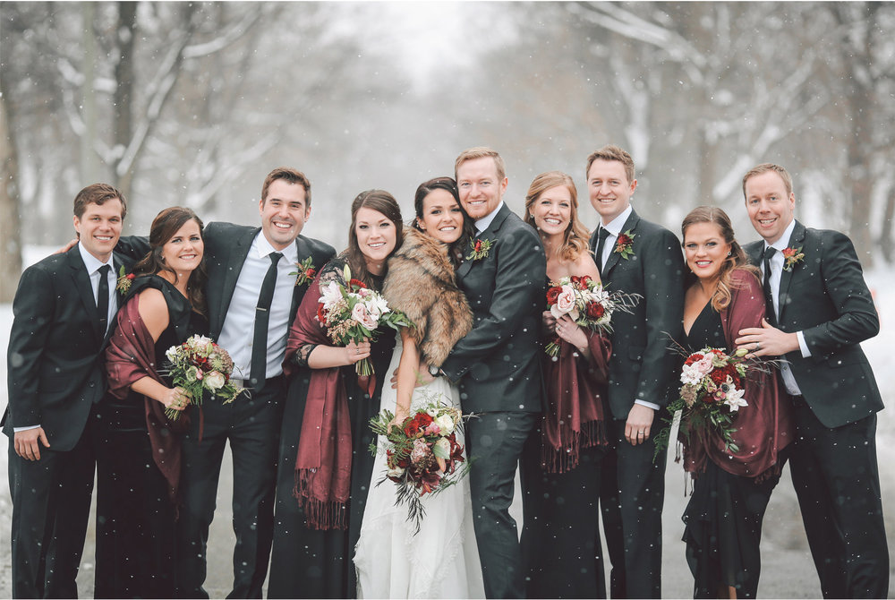 08-Minneapolis-Wedding-Photography-by-Vick-Photography-Snow-Winter-Wedding-Wedding-Party-Group-Laura-and-Michael.jpg