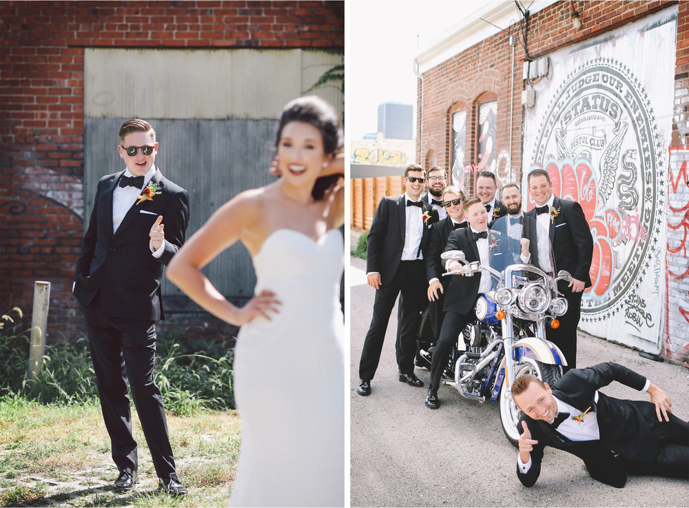 08-Kansas-City-Missouri-Destination-Wedding-Photography-by-Vick-Photography-Groomsmen-Motercycle-Downtown-Carly-and-Kenny.jpg