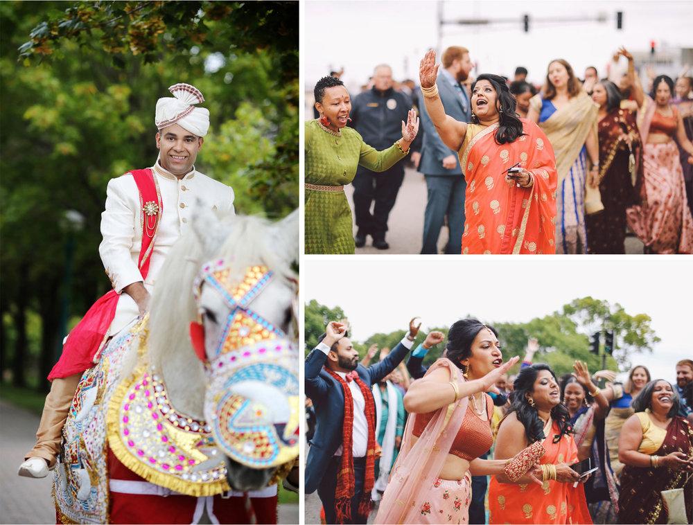 04-St-Paul-Minnesota-Wedding-Photography-by-Vick-Photography-Intercontinental-St-Paul-Riverfront-Traditional-Indian-Wedding-Baraat-Horse-Groom-Leena-and-Michael.jpg