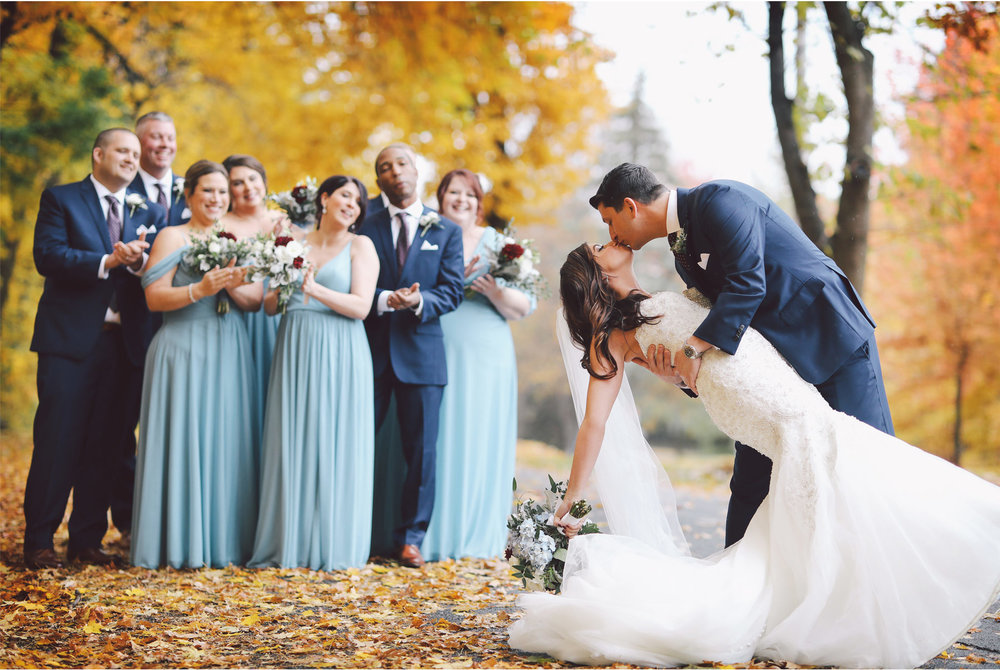 11-Minneapolis-Minnesota-Wedding-Photography-by-Vick-Photography-Classic-Car-Autumn-Fall-Colors-Wedding-Party-Dip-Kiss-Jana-and-Matt.jpg