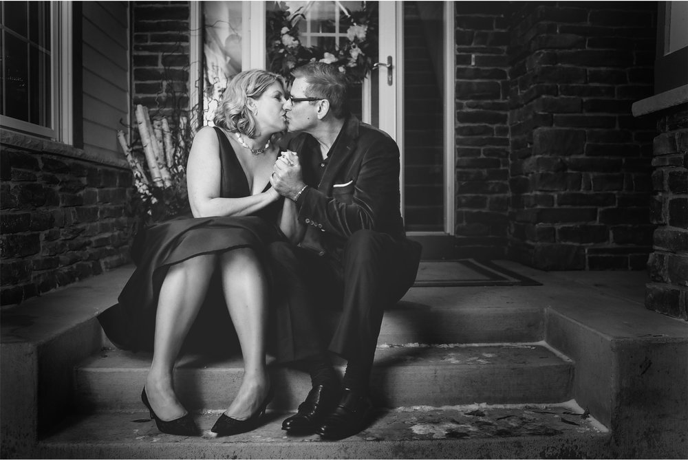 18-Minneapolis-Minnesota-Wedding-Photography-by-Vick-Photography-Home-Wedding-Bride-and-Groom-Front-Steps-Joan-and-Tim.jpg