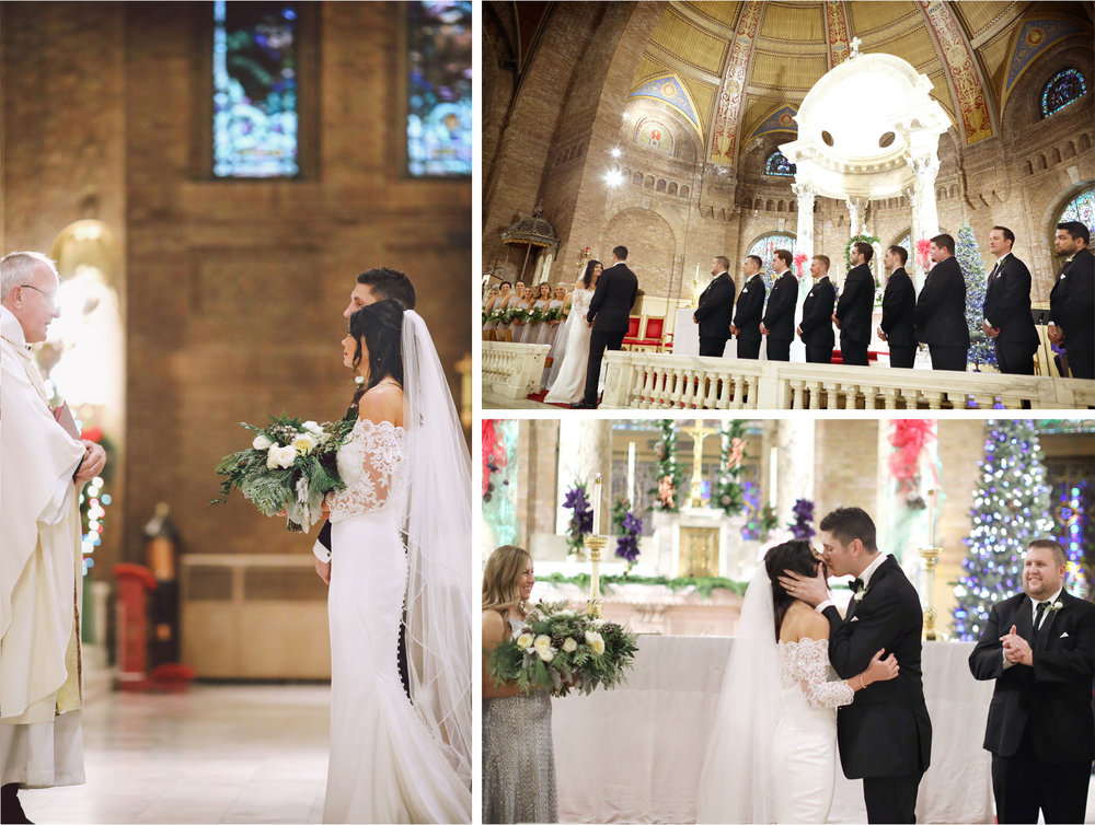 15-Minneapolis-Minnesota-Wedding-Photographer-by-Vick-Photography-Church-of-Incarnation-Ceremony-First-Kiss-Maggie-and-Matt.jpg