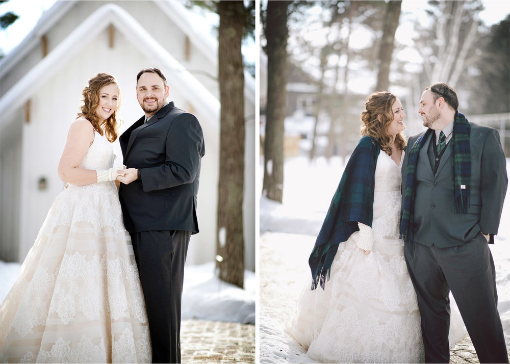 07-Brainerd-Minnesota-Wedding-by-Andrew-Vick-Photography-Nisswa-Grandview-Lodge-Winter-First-Look-Scarf-Plaid.jpg