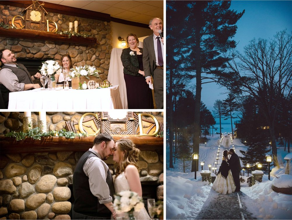 18-Brainerd-Minnesota-Wedding-by-Andrew-Vick-Photography-Nisswa-Grandview-Lodge-Reception-Toast-Bride-Groom.jpg