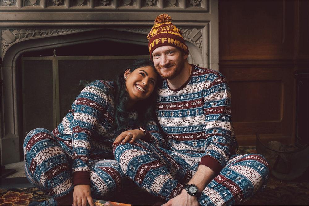 01-Harry-Potter-Themed-Engagement-Session-Minnesota-Wedding-Photography-Andrew-Vick-Gyffindor-Onesie-Elena-and-Doug.jpg