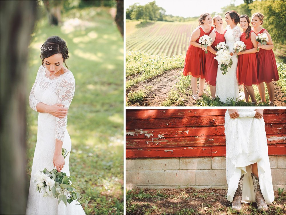 05-South-Haven-Minnesota-Wedding-Photographer-by-Andrew-Vick-Photography-Summer-Tomala-Farm-Field-Bride-Bridemaids-Flowers-Lace-Dress-Cowboy-Boots-Vintage-Renee-and-Bobb.jpg