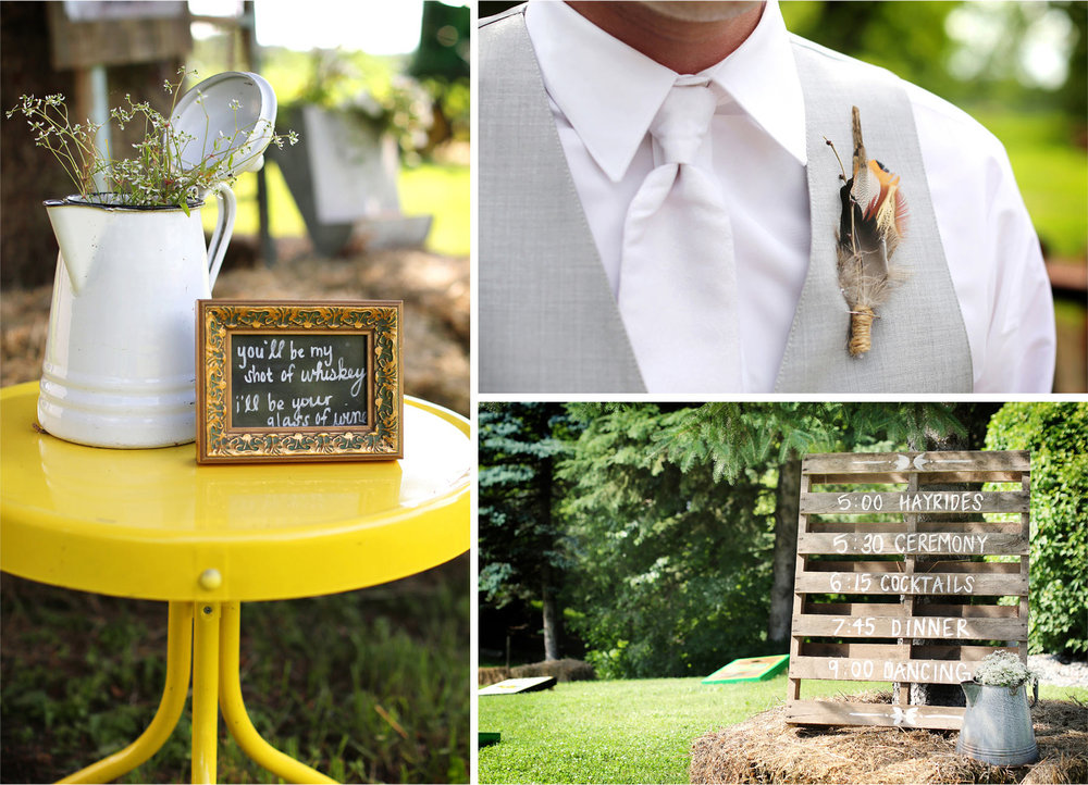 09-South-Haven-Minnesota-Wedding-Photographer-by-Andrew-Vick-Photography-Summer-Tomala-Farm-Sign-Groom-Boutonniere-Details-Decorations-Renee-and-Bobb.jpg