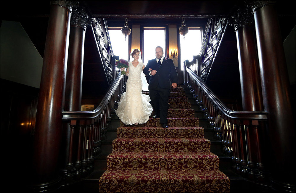 07-Minneapolis-Minnesota-Wedding-Photographer-by-Andrew-Vick-Photography-Summer-Semple-Mansion-Ceremony-Bride-Father-Parents-Entrance-Stephanie-and-Brady.jpg