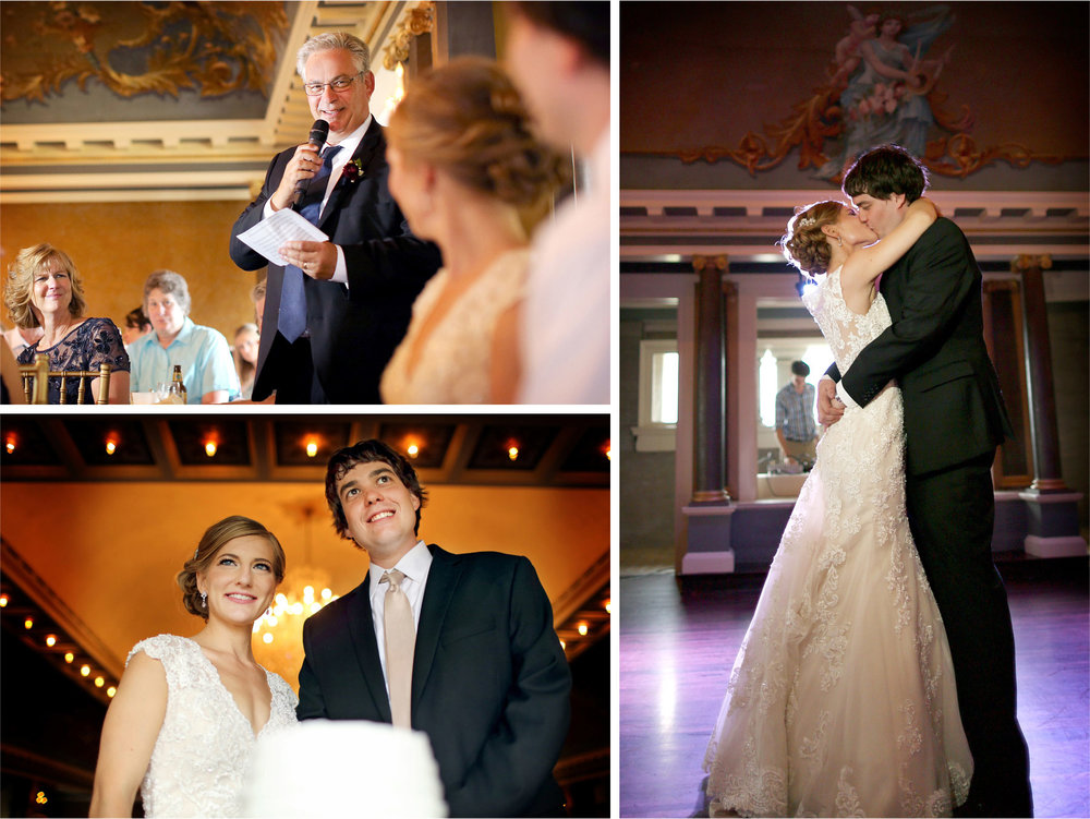 18-Minneapolis-Minnesota-Wedding-Photographer-by-Andrew-Vick-Photography-Summer-Semple-Mansion-Reception-Bride-Groom-Speeches-Dance-Kiss-Stephanie-and-Brady.jpg