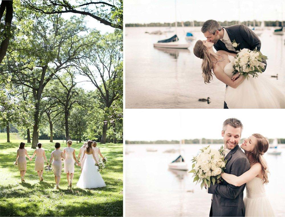 14-Minneapolis-Minnesota-Wedding-Photographer-by-Andrew-Vick-Photography-Summer-Woods-Lake-Harriet-Bride-Groom-Bridesmaids-Kiss-Dip-Embrace-Vintage-Katie-and-Travis.jpg
