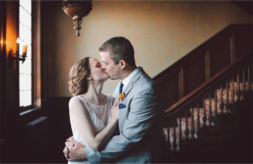 08-Minneapolis-Minnesota-Wedding-Photographer-by-Andrew-Vick-Photography-Summer-Semple-Mansion-Bride-Groom-Kiss-Embrace-First-Meeting-Look-Vintage-Stephanie-and-Robert.jpg