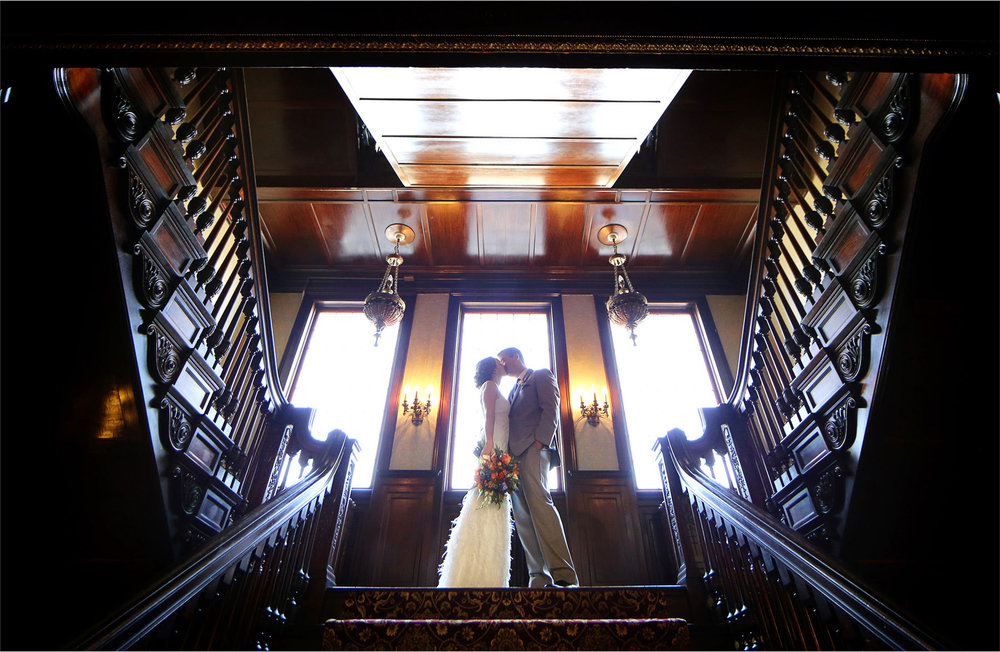 10-Minneapolis-Minnesota-Wedding-Photographer-by-Andrew-Vick-Photography-Summer-Semple-Mansion-Bride-Groom-Flowers-Kiss-First-Meeting-Look-Stephanie-and-Robert.jpg