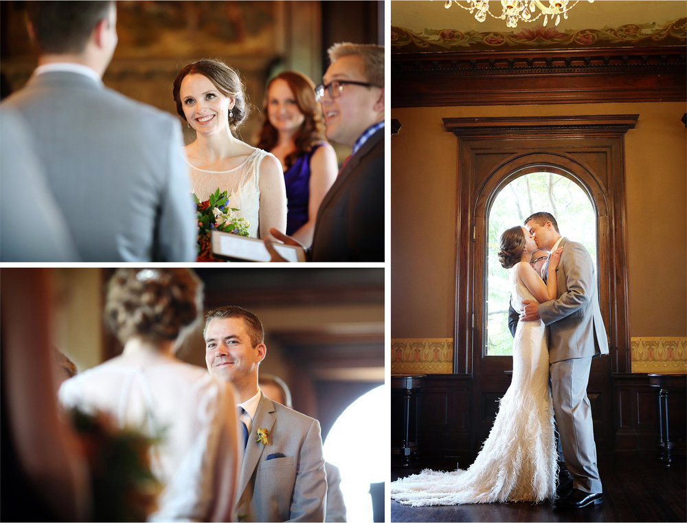 17-Minneapolis-Minnesota-Wedding-Photographer-by-Andrew-Vick-Photography-Summer-Semple-Mansion-Bride-Groom-Ceremony-Vows-Kiss-Stephanie-and-Robert.jpg
