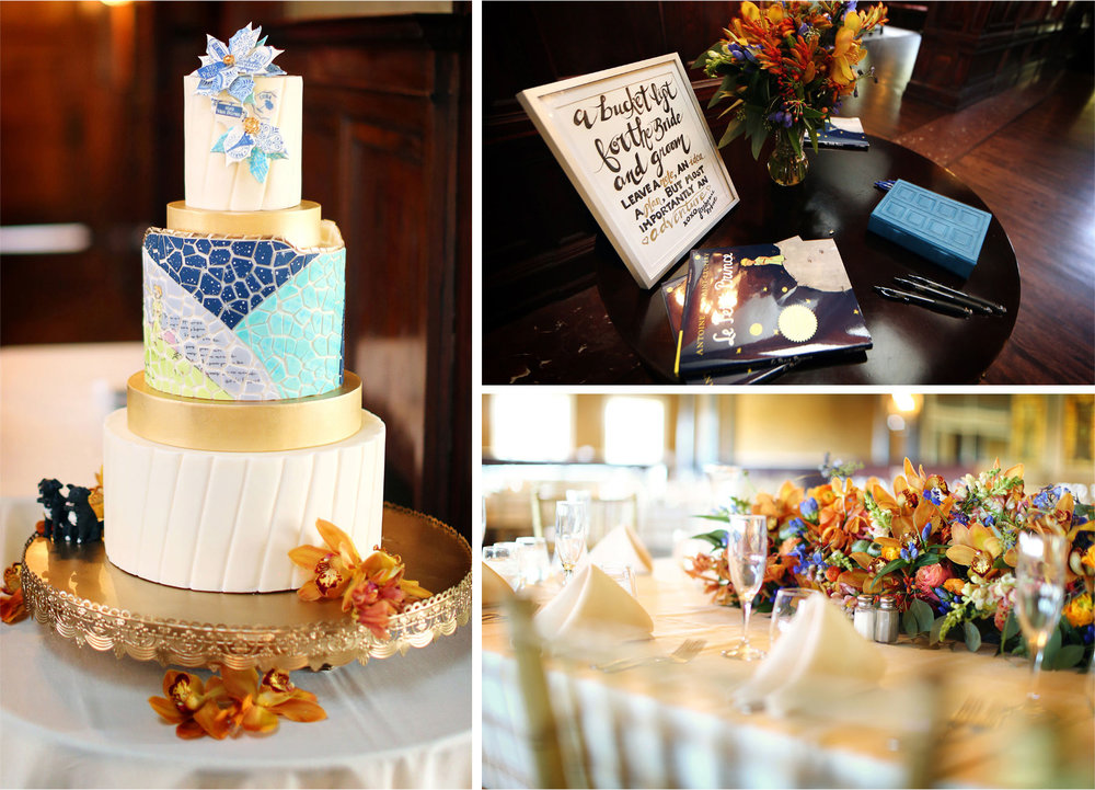 23-Minneapolis-Minnesota-Wedding-Photographer-by-Andrew-Vick-Photography-Summer-Bride-Groom-Reception-Details-Decorations-Cake-Little-Prince-Book-Flowers-Stephanie-and-Robert.jpg