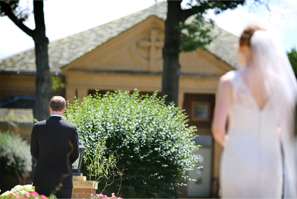02-Edina-Minnesota-Wedding-Photographer-by-Andrew-Vick-Photography-Summer-Our-Lady-of-Grace-Catholic-Parish-Church-Bride-Groom-First-Look-Meeting-Betsy-and-Jon.jpg