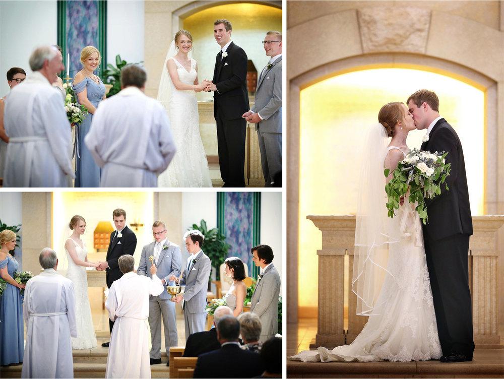 16-Edina-Minnesota-Wedding-Photographer-by-Andrew-Vick-Photography-Summer-Our-Lady-of-Grace-Catholic-Parish-Church-Ceremony-Bride-Groom-Prayer-Kiss-Betsy-and-Jon.jpg