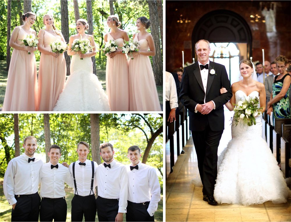 08-Saint-Paul-Minnesota-Wedding-Photographer-by-Andrew-Vick-Photography-Summer-Nazareth-Chapel-University-of-Nowthwestern-Bride-Groom-Groomsmen-Bridesmaids-Bridal-Party-Ceremony-Aisle-Father-Parents-Hallie-and-Ted.jpg