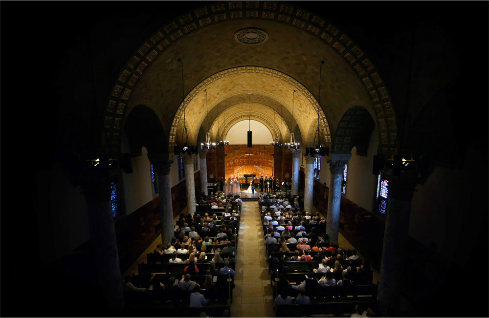 09-Saint-Paul-Minnesota-Wedding-Photographer-by-Andrew-Vick-Photography-Summer-Nazareth-Chapel-University-of-Nowthwestern-Bride-Groom-Groomsmen-Bridesmaids-Bridal-Party-Ceremony-Aisle-Hallie-and-Ted.jpg