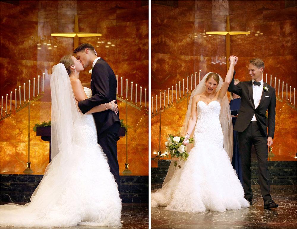 11-Saint-Paul-Minnesota-Wedding-Photographer-by-Andrew-Vick-Photography-Summer-Nazareth-Chapel-University-of-Nowthwestern-Bride-Groom-Ceremony-Kiss-Excitement-Celebration-Hallie-and-Ted.jpg