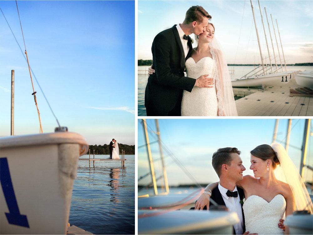 13-White-Bear-Lake-Minnesota-Wedding-Photographer-by-Andrew-Vick-Photography-Summer-Yacht-Club-Bride-Groom-Kiss-Hug-Cuddle-Docks-Sailboats-Boats-Sunset-Hallie-and-Ted.jpg