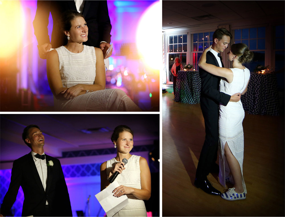 19-White-Bear-Lake-Minnesota-Wedding-Photographer-by-Andrew-Vick-Photography-Summer-Yacht-Club-Bride-Reception-Dress-Speeches-Dance-Shoes-Hallie-and-Ted.jpg