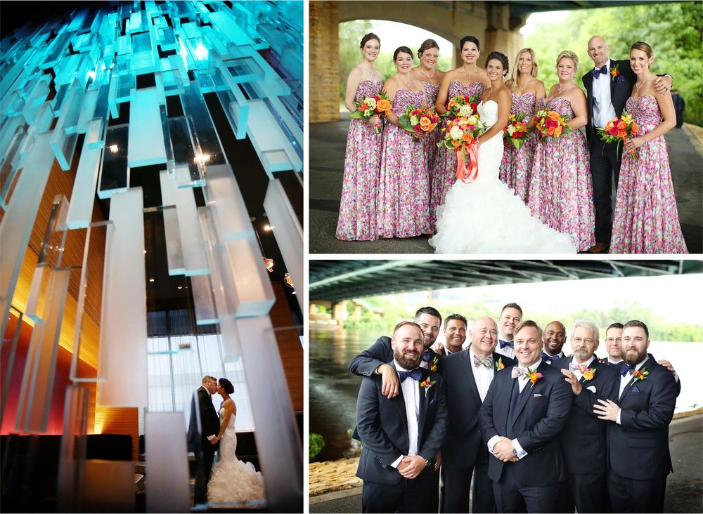 09-Minneapolis-Minnesota-Wedding-Photographer-by-Andrew-Vick-Photography-Summer-Loews-Hotel-Bride-Groom-Groomsmen-Bridesmaids-Bridal-Party-Mississippi-River-Lindsay-and-Dustin.jpg