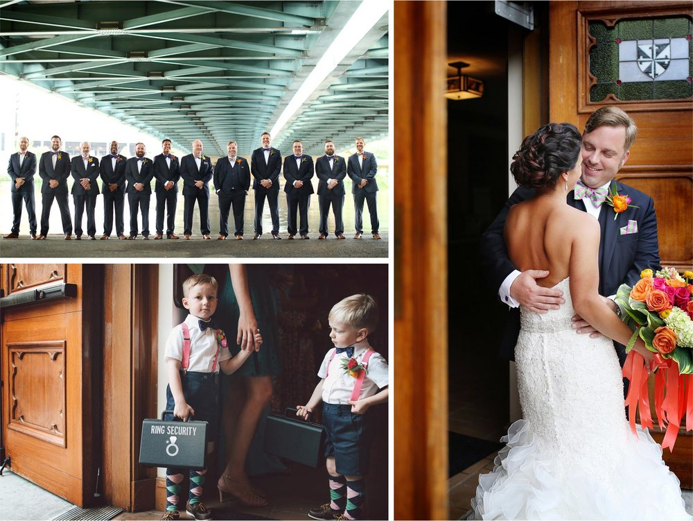 13-Minneapolis-Minnesota-Wedding-Photographer-by-Andrew-Vick-Photography-Summer-Saint-Albert-the-Great-Church-Bride-Groom-Mississippi-River-Groomsmen-Ring-Bearer-Security-Lindsay-and-Dustin.jpg