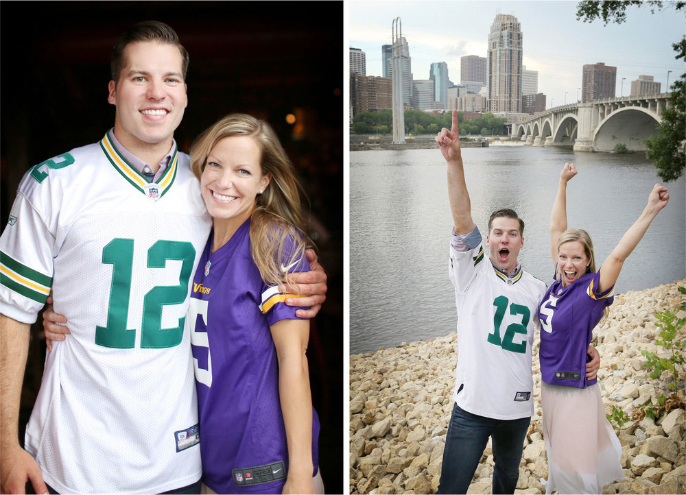 09-Minneapolis-Minnesota-Engagement-Photographer-by-Andrew-Vick-Photography-Summer-Saint-Anthony-Main-Aster-Cafe-Mississippi-River-Vikings-Green-Bay-Packers-Jerseys-Football-Excitement-Tina-and-Kevin.jpg