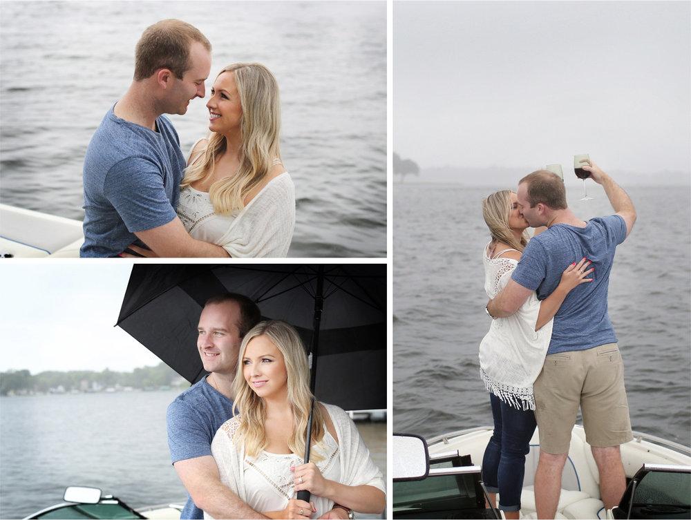 08-Wayzata-Minnesota-Engagement-Photographer-by-Andrew-Vick-Photography-Summer-Lake-Minnetonka-Embrace-Kiss-Wine-Rain-Umbrella-Speed-Boat-Ashley-&-Kasey.jpg