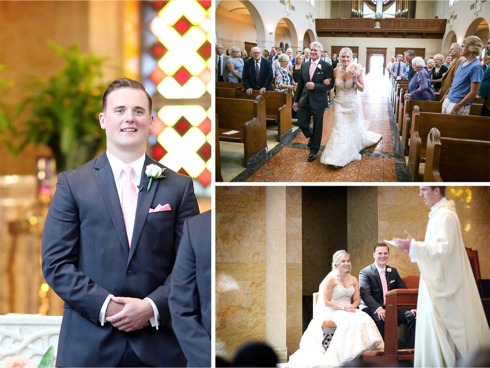 08-Duluth-Minnesota-Wedding-Photographer-by-Andrew-Vick-Photography-Summer-Cathedral-of-Our-Lady-of-the-Rosary-Church--Ceremony-Bride-Groom-Father-Parents-Aisle-Lindsey-and-Adam.jpg