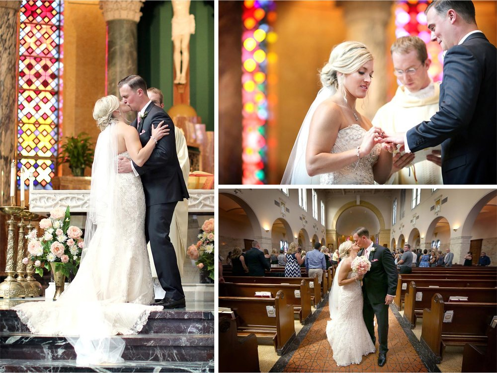 10-Duluth-Minnesota-Wedding-Photographer-by-Andrew-Vick-Photography-Summer-Cathedral-of-Our-Lady-of-the-Rosary-Church--Ceremony-Bride-Groom-Vows-Rings-Kiss-Lindsey-and-Adam.jpg