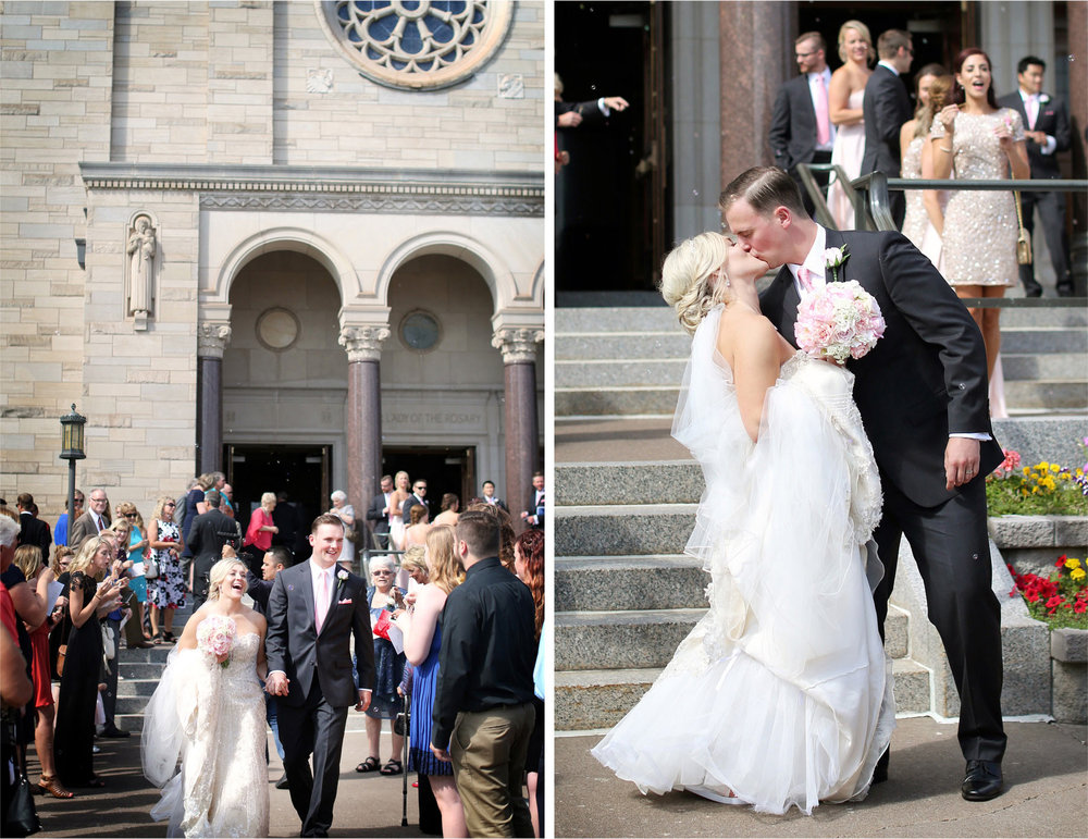 12-Duluth-Minnesota-Wedding-Photographer-by-Andrew-Vick-Photography-Summer-Cathedral-of-Our-Lady-of-the-Rosary-Church--Bride-Groom-Bubbles-Kiss-Excitement-Lindsey-and-Adam.jpg