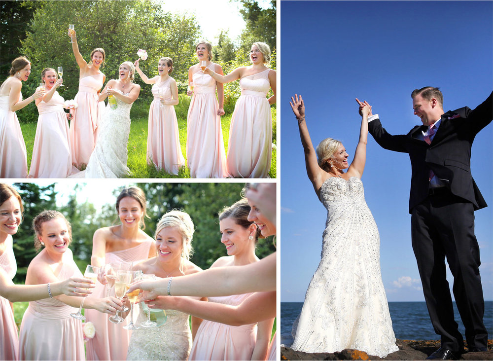 14-Duluth-Minnesota-Wedding-Photographer-by-Andrew-Vick-Photography-Summer-Bride-Groom-Bridesmaids-Champagne-Toast-Lake-Superior-Excitement-Lindsey-and-Adam.jpg