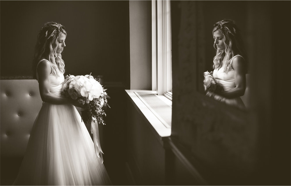 04-Minneapolis-Minnesota-Wedding-Photographer-by-Andrew-Vick-Photography-Summer-Calhoun-Beach-Club-Getting-Ready-Bride-Flowers-Crown-Reflection-Black-and-White-Lexie-and-James.jpg