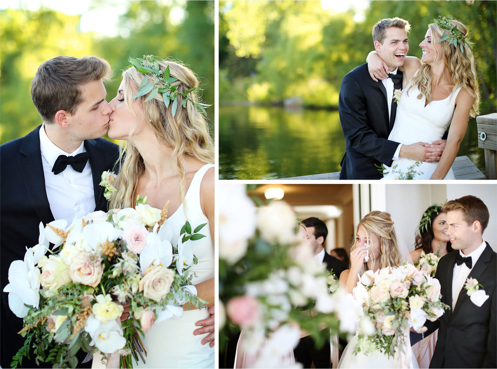 21-Minneapolis-Minnesota-Wedding-Photographer-by-Andrew-Vick-Photography-Summer-Lake-Calhoun-Bride-Groom-Flowers-Crown-Kiss-Embrace-Laughter-Room-Reveal-Reception-Lexie-and-James.jpg
