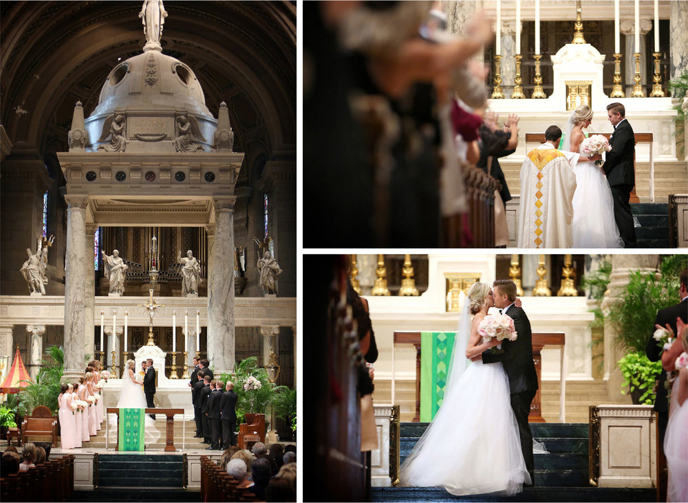 12-Minneapolis-Minnesota-Wedding-Photographer-by-Andrew-Vick-Photography-Summer-Basilica-of-Saint-Mary-Ceremony-Bride-Groom-Vows-Kiss-Emily-and-Jay.jpg